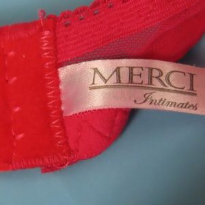Chantelle Intimates & Sleepwear - Red Lace Padded Bra By Merci for Chantelle